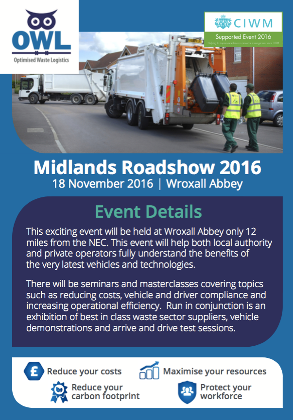 OWL Midlands roadshow flyer