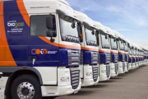 Howard Tenens lorries lined up