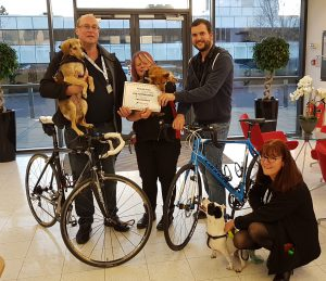 Cycle Heroes 2017 cheque handover to SN Dogs
