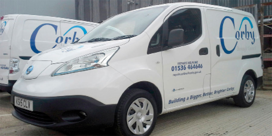 Corby council vehicle