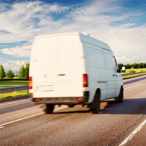 Overload protection van on motorway
