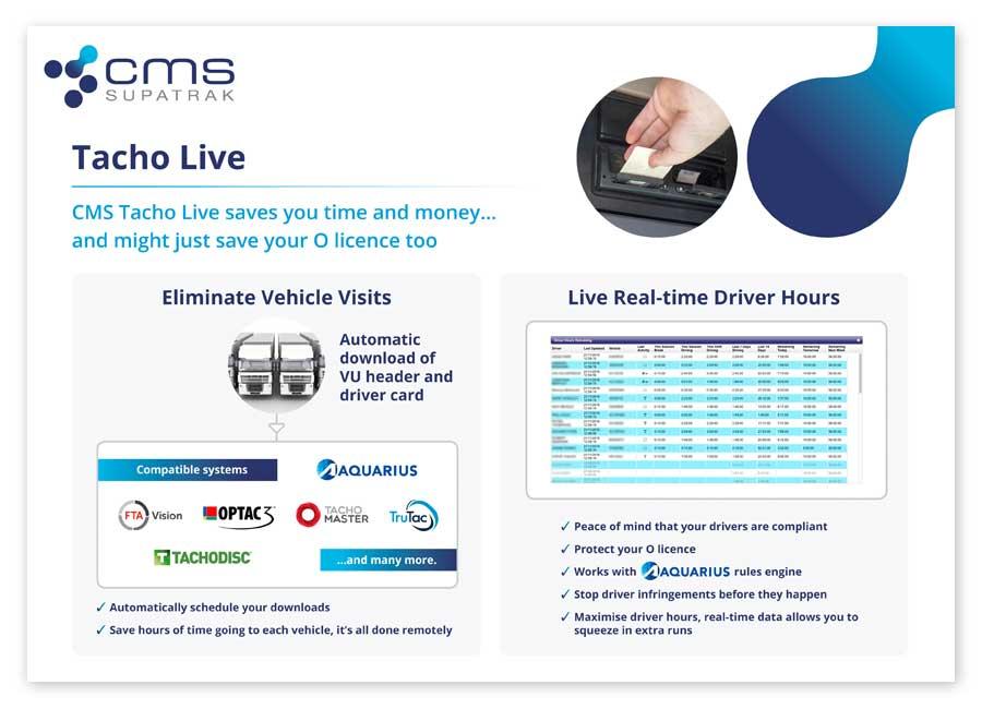 Tacho live brochure cover